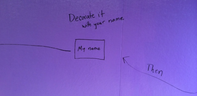 Instructions on wall
