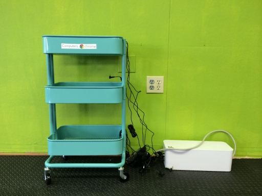 Mobile Chromebook cart
