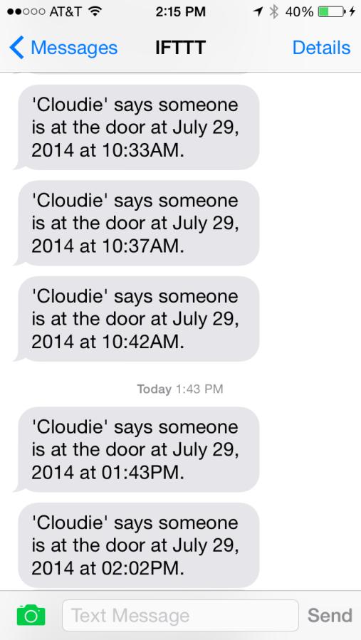 IFTTT & littleBits Cloud = Doorbell Notifications!